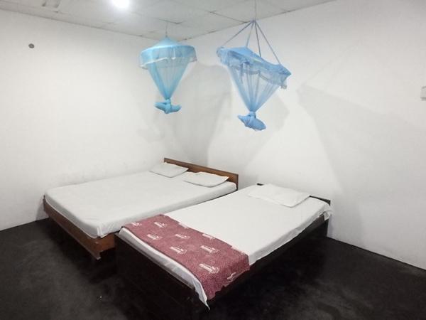 ポロンナルワで泊まったお宿、Samudra Guest House。一部屋だけ裏庭の奥にあるツインルームは約1,200円と安かったのですが、水シャワーは使用不能で天井裏に激しく動き回る謎の獣が…。蚊も多く、wifiは気絶しそうな遅さ