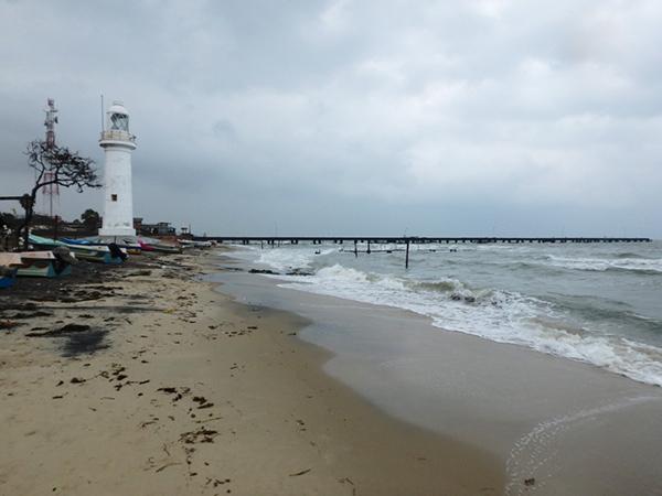 かつてインド南部のラーメシュワラムへの定期船が発着していたタライマンナール。今は古い桟橋が寂しく残っているだけの小さな漁村でした