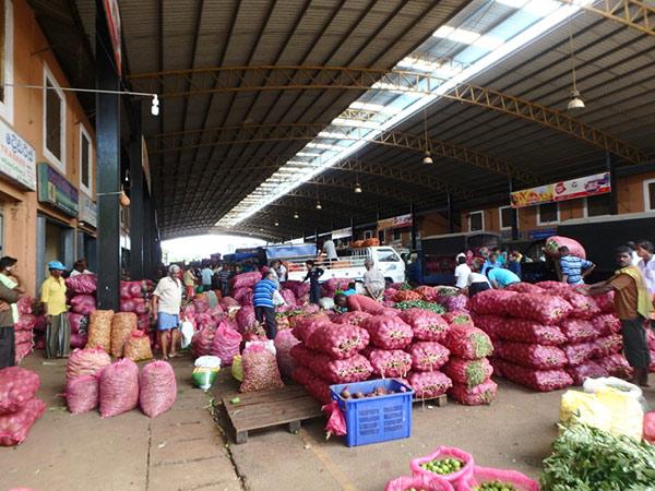 旧市街にある石窟寺院から、新市街に帰る途中に見かけた青果の卸市場。トラックにびっしり積まれた新鮮な野菜が次々に運び込まれていて、凄い活気でした