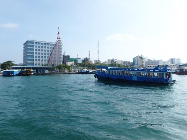マレからビリンギリ島やマアフシ島、ラスドゥ島などに行く時に利用したビリンギリ・フェリーターミナル