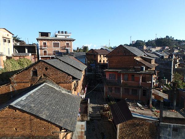 宿の屋上からの眺め