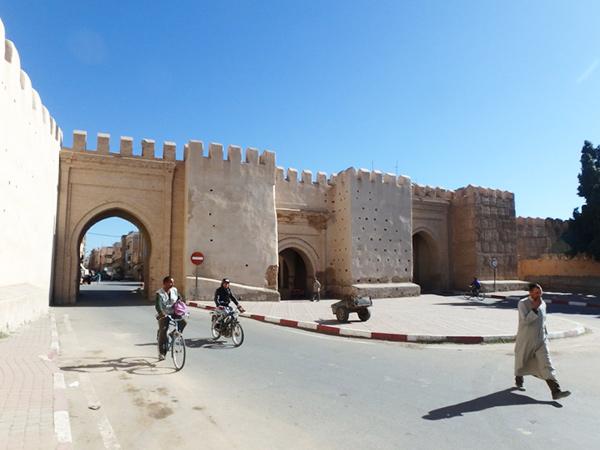 メディナの西側にあるタグノン門 Bab Targhount