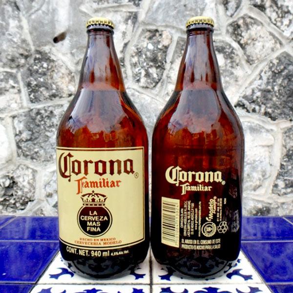 メキシコのビール Corona Familiar。940mlで27ペソ(約154円)