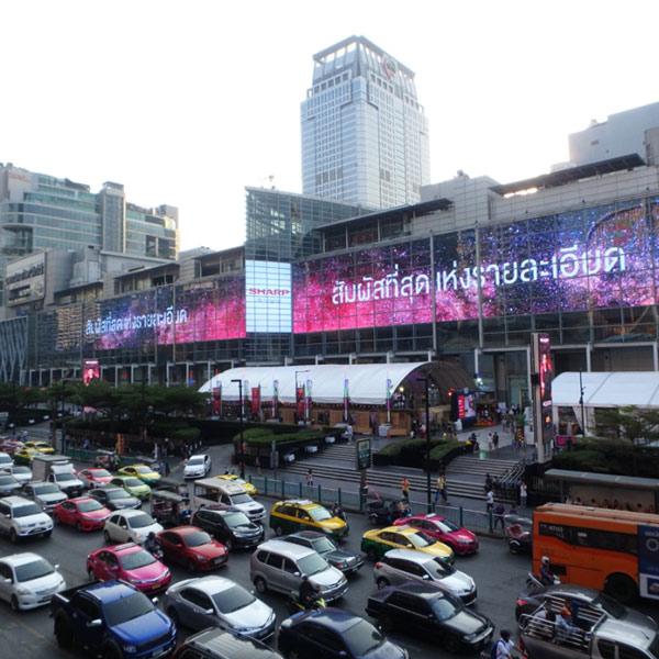 いつも渋滞しているバンコクの中心地