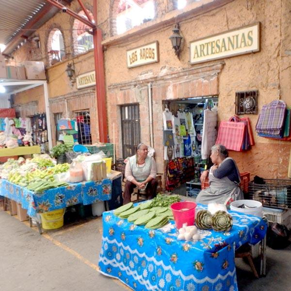 食用のウチワサボテン、ノパル Nopalなどを売っている女性たち。ノパルは私たちの大好物で、今回の旅でも沢山食べられて幸せでした♪